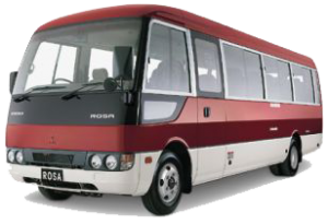 34 Seats Mitsubishi Rosa Buses